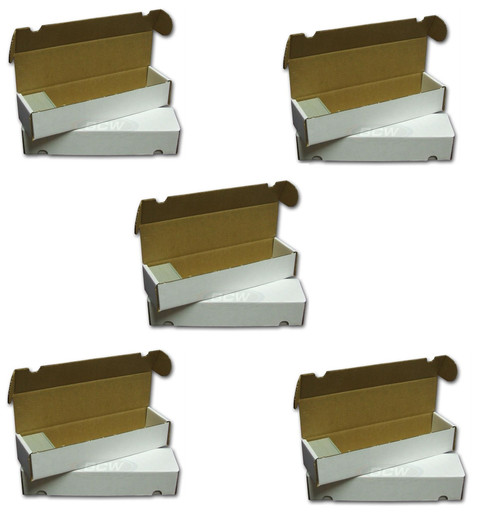 5 BCW 800 Count Trading & Game Card Storage Boxes