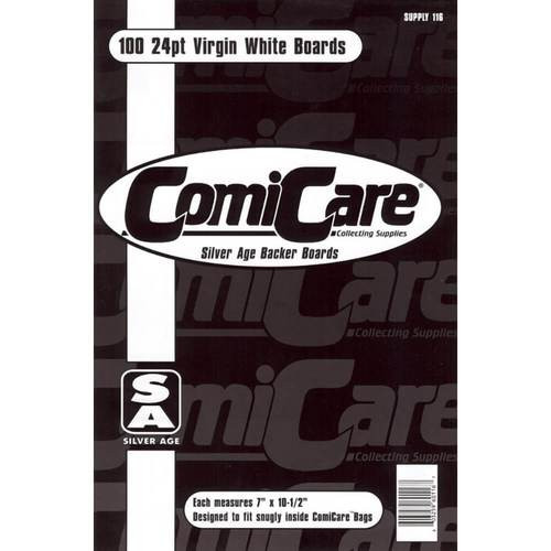 Comic Care Silver Size Comic Back Boards - 100 Pack