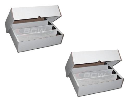 2 BCW 3200 Count Storage Box  (Full Lid.)