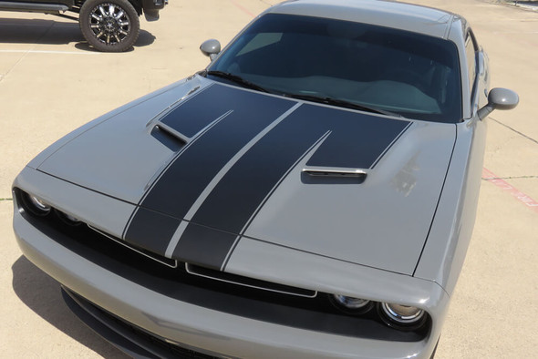 2015-18 Challenger Dual Hood Stripes