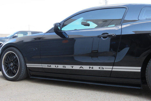 2005-14 Mustang Narrow Dual Line Rocker Panel Stripes