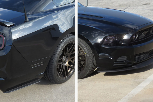 2010-14 Mustang Smoked Side Marker Overlays