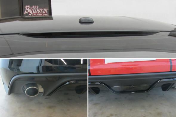 2015-17 Mustang Smoked Rear Reflectors, Reverse & 3rd Brake Light Overlays