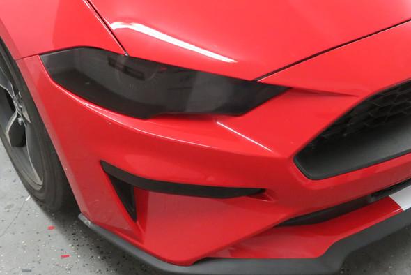 2018-21 Mustang Smoked Headlight Overlays