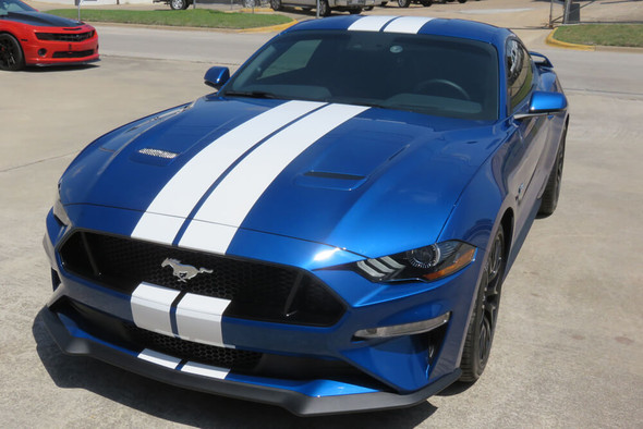 2018-21 Mustang Narrow Dual Full Length Stripes