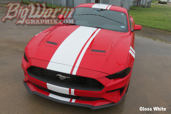 2018-20 Mustang Offset Full Length Stripes