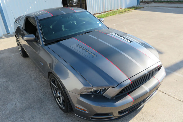 2010-14 Mustang Wide Dual Full Length Stripes