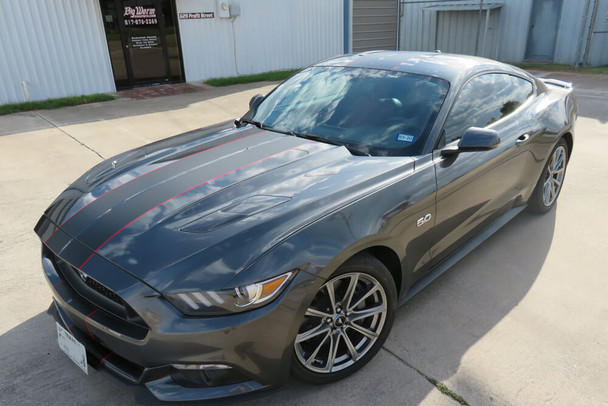 2015-17 Mustang Narrow Dual Full Length Stripes