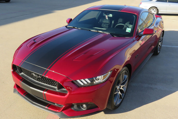 2015-17 Mustang Supersnake Style Full Length Stripes