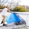 BLUE MAX® Original Blue application on epdm roof