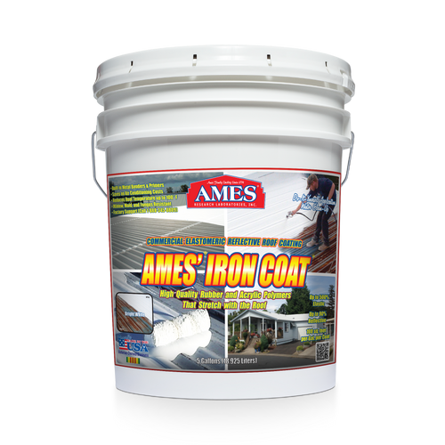 Five gallon bucket front label image of AMES Iron Coat®