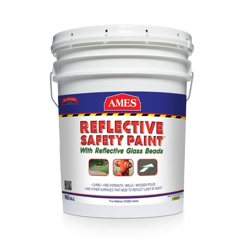AMES REFLECTIVE SAFETY PAINT 5 gallon