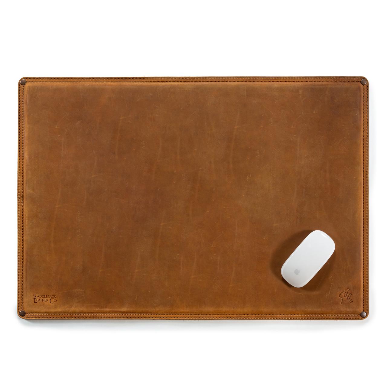 Leather Desk Pad Real Genuine Full Grain Blotter Saddleback Leather
