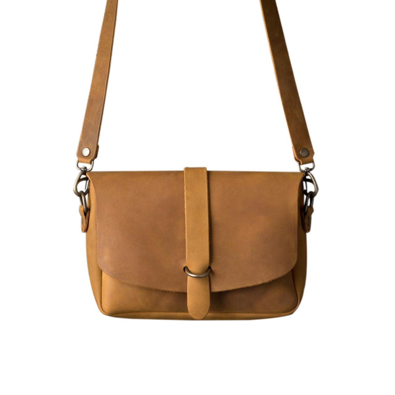 Backpack Kangaroo Pocket Chocolate Distress Leather  Body Crossbag