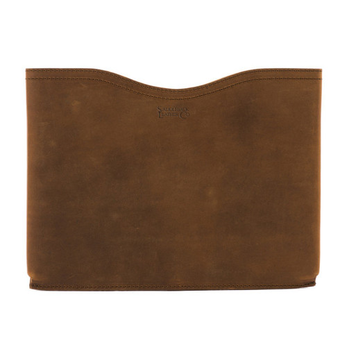 "This is a 14"" wide tan brown horizontal leather laptop sleeve made for briefcases."