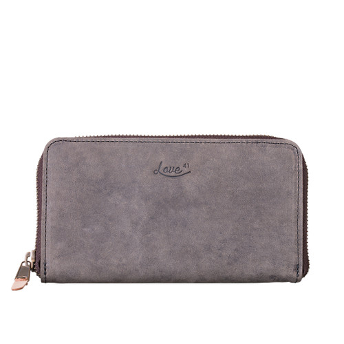 Suzette's Steals Continental Leather Wallet-Carbon Black