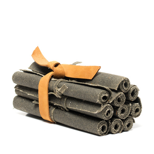 Waxed Canvas Fire Starter Rolls