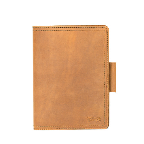 Large Leather Moleskine Cover - Tobacco
