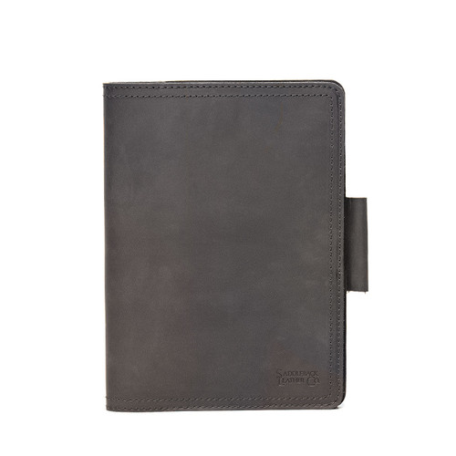 Large Leather Moleskine Cover - Carbon