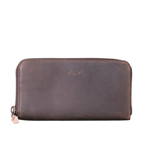Suzette's Steals Continental Leather Wallet-Dark Coffee