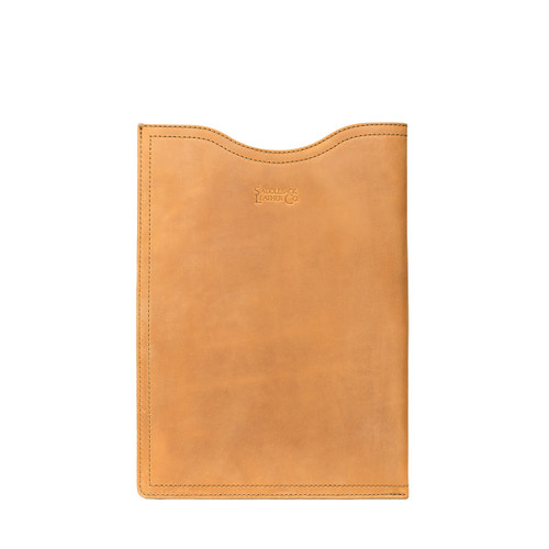 "16"" Leather Vertical Laptop Sleeve"