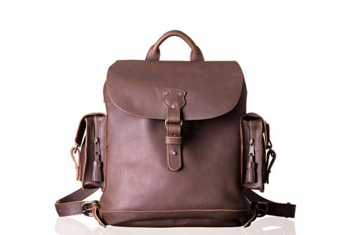Suzette's Steals Wanderer's Leather Backpack-Dark Coffee-Old Version