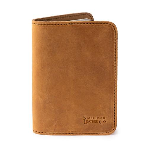 Leather Passport Cover - Tobacco