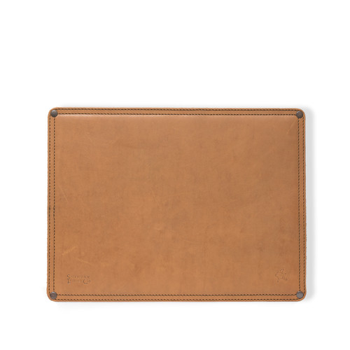 Large Leather Mouse Pad - Veg Tan Leather