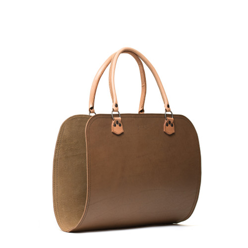 Leather Log Carrier - Veg Tan Leather