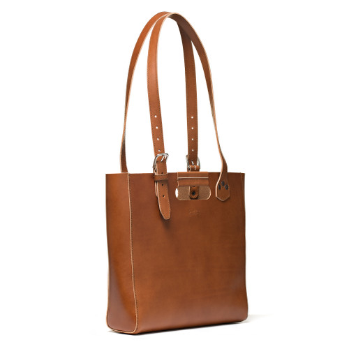 The Leather Tote - Veg Tan Leather - Darker