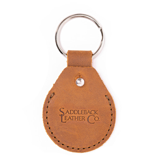 Leather AirTag Keychain Case - The Rivet