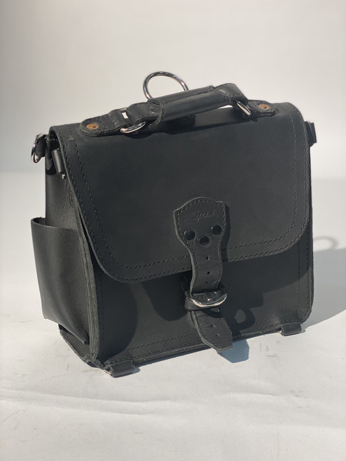 Small Rounded Satchel Black Auction #202