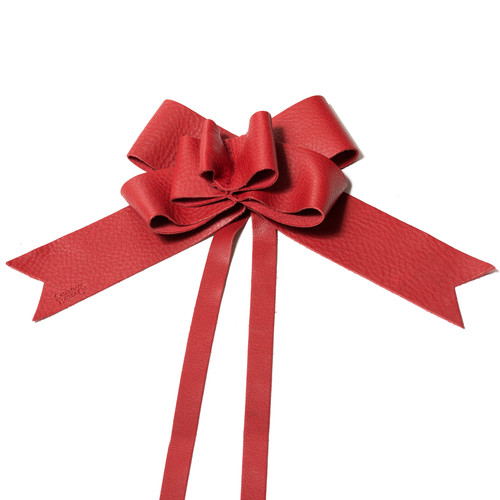 Leather Christmas Bow