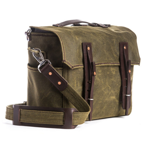 Simple Weatherproof Canvas Messenger Bag