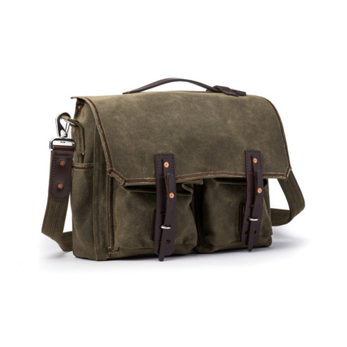 Front Pocket Weatherproof Canvas Messenger Bag