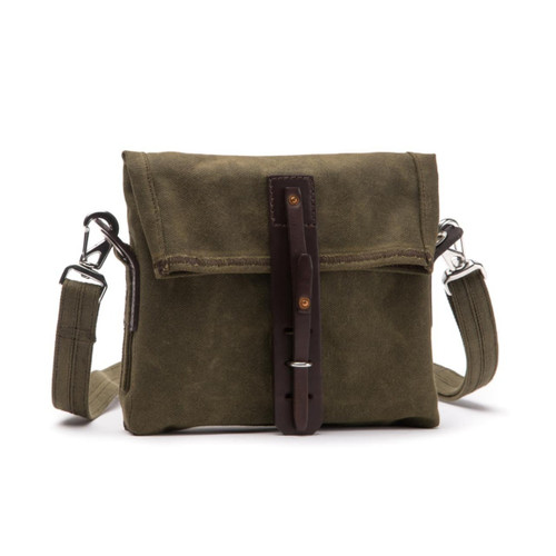 Fold Over Weatherproof Canvas Satchel