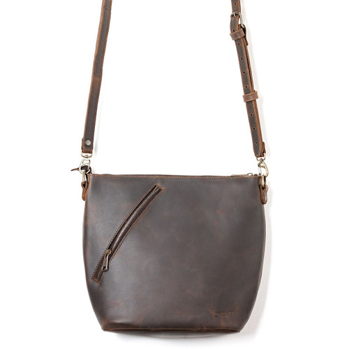 Crossbody Concealed Leather Bag