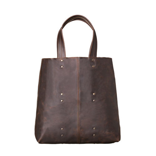 Giant Weekend Leather Tote