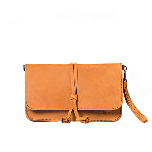 Crossbody Leather Clutch