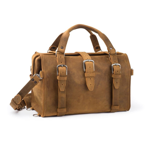 Doctor's Overnight Duffle Bag - Tobacco