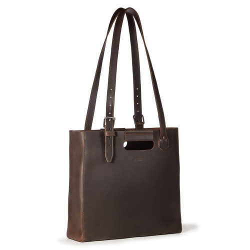The Leather Tote - Dark Coffee Brown