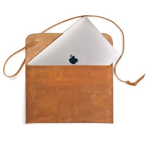 Leather MacBook Air Laptop Case - Tobacco