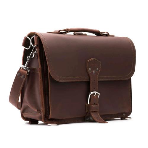 Slim Laptop Briefcase - Chestnut
