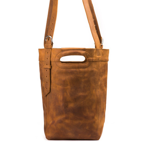 Suzette's Steals Bucket Leather Tote - Tobacco
