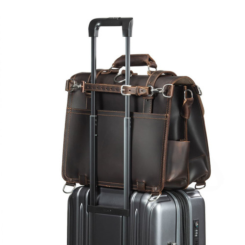 Luggage Strap - Dark Coffee Brown