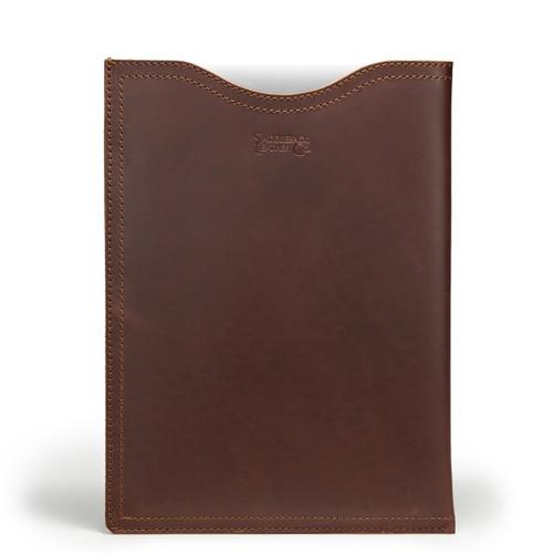 "15"" Leather Laptop Sleeve - Chestnut"