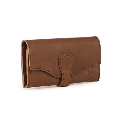 Long Trifold RFID Wallet - Tobacco