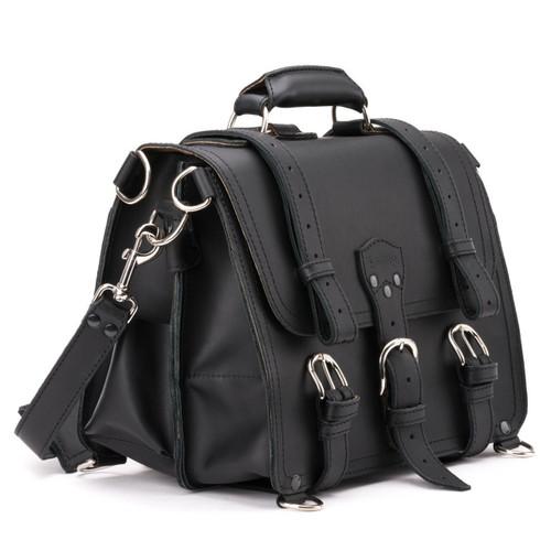 Medium Classic Leather Briefcase - Medium - Black