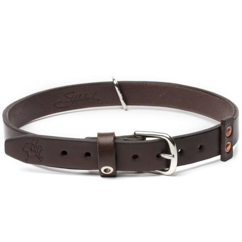 Leather Dog Collar - Medium - Dark Coffee Brown