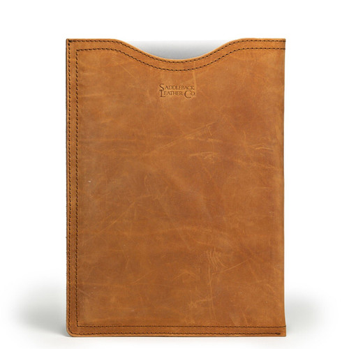 "15"" Leather Laptop Sleeve - Tobacco"